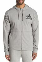 New Adidas Mens Athletic BTS Gray 3-Stripes Dolman Sleeve Jersey Hoodie S - 2XL