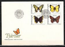 Sweden, Scott cat. 2020-2023. Butterflies issue on a First day cover.