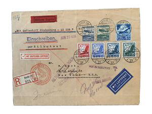 Zeppelinpost für Sammler 1936 HindenburgLZ 129 NAF Berlin- N.Y.