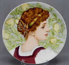 Chas Haviland Limoges Hand Painted Signed MK Renaissance Portrait Charger 1880