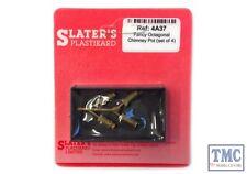 4A37 Slaters OO/HO Gauge Fancy Octagonal Chimney Pot, set of 4 (cast brass)