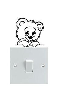 Teddy bear Light Switch Stickers  x 3