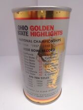 GAMBRINUS STRAIGHT STEEL PULL TAB BEER CAN #67-6  OHIO STATE FOOTBALL RECORD