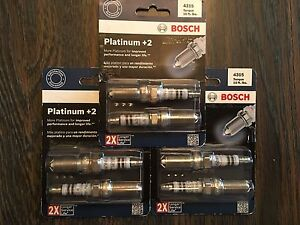 6 NEW  Bosch Platinum +2  4315 Spark Plug