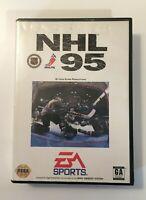 NHL 95 (EA Sports Sega Genesis, 1995) GAME AND CASE NO MANUAL
