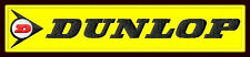 """DUNLOP EMBROIDERED PATCH ~5-1/4""""x 1-1/8"""" TIRES MOTORCYCLE MOTO CROSS DRAG RACING"""