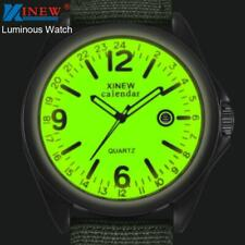 Men Brand Luminous Watches Military Casual Nylon Strap Quartz Army Watch