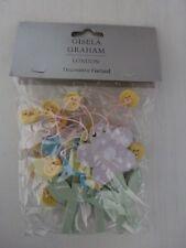 Gisela Graham Pastel Wood Daisy Garland Easter Decoration 116cm