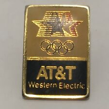 Collectible 1984 AT&T Western Electric Olympic Sponsorship Pin Los Angeles LA