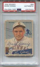 1934 Goudey #56 Mark Koenig AUTO signed baseball card PSA/DNA 1927 Yankees