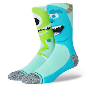 Stance x Monsters Inc. Monstropolis Men Socks Large Men's 9-13 Disney Pixar