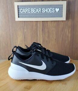 NEW Nike Roshe G JR Kids Golf Shoes 2Y Black/White Comfortable Spikeless