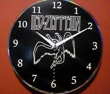 Reloj hecho a mano sobre disco de vinilo - Led Zeppelin