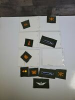 ARMY PATCH LOT: 10 VARIOUS PATCHES.  USED CONDITION