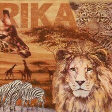 2 Serviettes en papier Afrique Safari Lion éléphant Girafe Paper Napkins Afrika