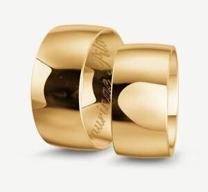 Trauringe Gold 333 - Gelb-, Rot-,oder Weißgold - Poliert - Breite 9,5mm
