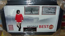 GEORGE BEST MANCHESTER UNITED LEGEND SIGNED AFTAL