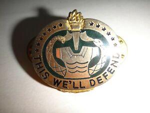 États-Unis Armée Unité Crest Drill Sgt Slogan This We'Ll Defend Distinctif Unité
