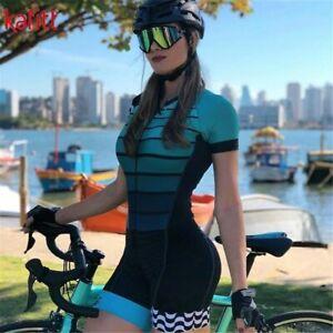 Pro Team Triathlon Set Women's Cycling Jersey One Piece Jumpsuit Short