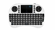 Rii i8 Bluetooth Mini Wireless Keyboard With Touchpad in White