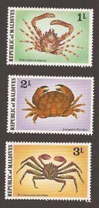 Maldives  MNH Crabs SC 758-760