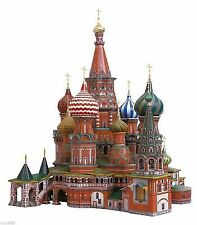 Clever Paper St Basil's Cathedral 3D Puzzle Cardboard Construction Set UMBUM DIY