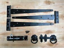 """Tee bisagra 18"""" 450mm Kit de montaje de puerta de madera puerta de jardín Ferrería Set Negro"""