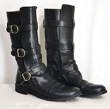 FIORENTINI + BAKER Eternity 7040 Three Buckle Boots 41 Men's 8/8.5 Black Leather
