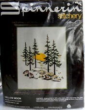 Spinnerin Yellow Moon Embroidery Kit Constance Seidner 16 in x 20 in No 1079