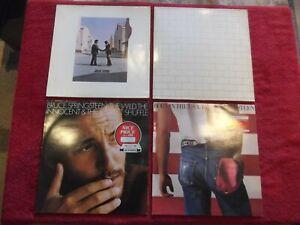 4 Schallplatten 2 von Pink Floyd und 2 von Bruce Springsteen