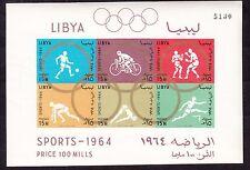 Libia 1964 Olimpiadi di TOKYO FOGLIETTO  ND 6 val. nuovo Gomma originale MNH**