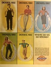 Dickies Work Clothes Print Ad 1982 Vintage Ad Original Ad