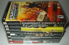 lot of 7 psp cases instruction booklets pacman world pursuit force ghost rider .