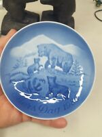 Bear and Cubs  Mothers Day Plate 1985 Vintage Bing & Grondahl B & G