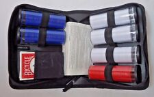 BICYCLE POKER SET, Chips and Playing Cards In Zippered Travel / Carry Case