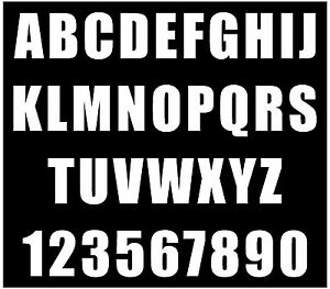 1/2 inch WATERPROOF ADHESIVE VINYL LETTER AND NUMBER PACK Over 350 characters