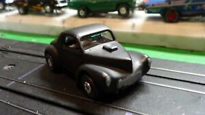 Classic  t-jet body / 1941 willys / flat black / modified for stock racing NICE