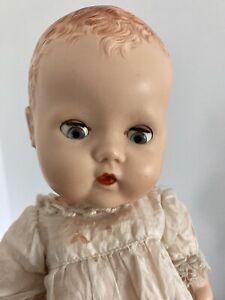 "Vintage 1950s 10"" BND Babykins doll in white lawn dress"