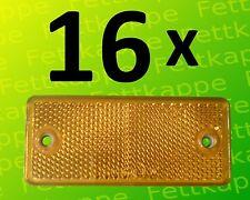 90 x 40 mm 0.67€ Reflektor schrauben Prüfzeichen 8 x Rückstrahler Rot