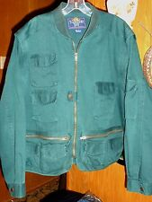 Thornton Bay Convertible Green 11 Pockets Safari Jacket Vest Men's L