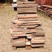 11 qm Mauerabdeckplatten € 90/ qm Steinplatten Naturstein Boden Sandstein Mauer