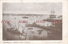 "English Postcard. Portsmouth Harbour from Gosport. HMS ""Victory"" Scarce! 1904"