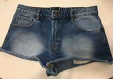 Forever 21 size 27 blue bootie distressed  jean shorts