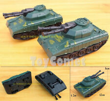 2 pcs Military Double- Barrel Super Heavy Tanks Toy Soldier Army Men Accessories