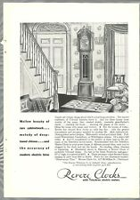 1930 Revere Clocks advertisement, TELECHRON electric clocks Hanover grandfather
