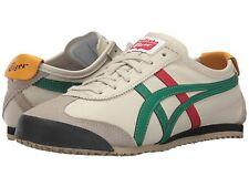 ONITSUKA TIGER DL408.1684 MEXICO 66 Mn 's (M) bétula/Verde Couro sapatos de estilo de vida