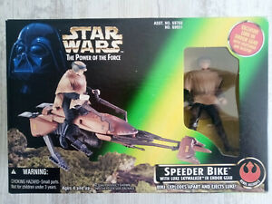 Star Wars: 1996 'POTF' Speeder Bike with Luke Skywalker in Endor Gear - Kenner