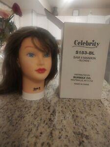 Celebrity Sam II Manikin Cosmetology Head 100% Human Hair