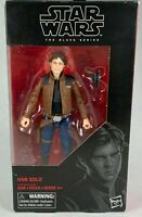 STAR WARS DISNEY THE BLACK SERIES 6 INCH HAN SOLO ACTION FIGURE #62 NEW SEALED