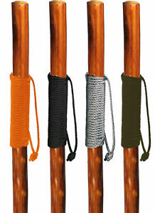 """Walking Hiking Hike Stick Cane Staff 55"""" Pine Wood with Paracord Wrapped Handle"""